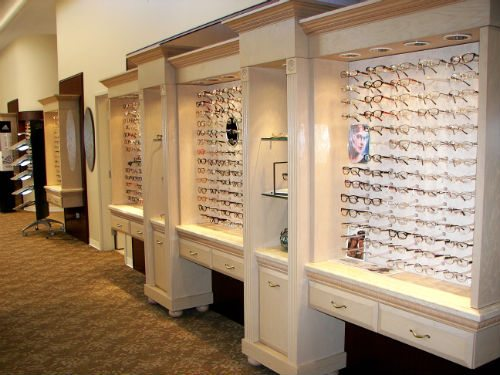 Eyeglasses in the CarlinVision Optical Boutique