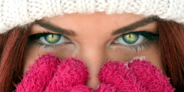 green winter eyes