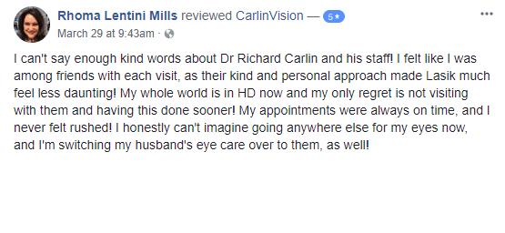 Carlin Vision Lasik Review